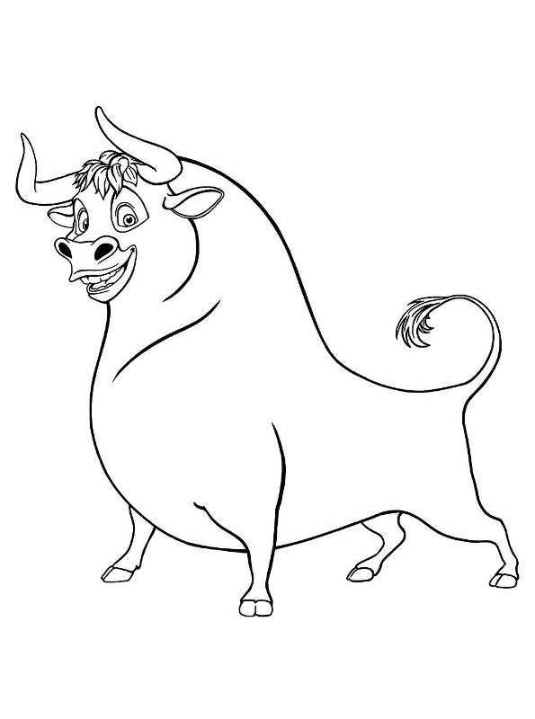 Paarden Kleurplaten Spirit Ferdinando El Toro Dibujos Para Colorear Dibujalandia