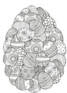 huevos de pascua para colorear e imprimir