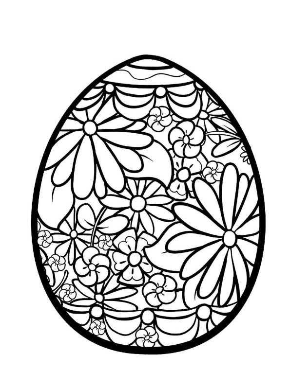huevos de pascua para colorear e ipmrimir - Dibujalandia