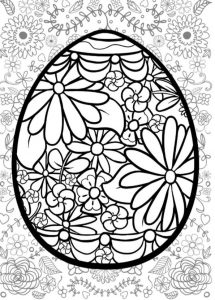 huevos de pascua para colorear imprimir