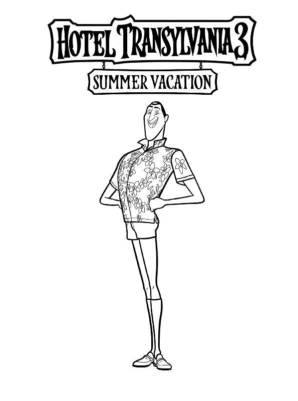 Drac Hotel Transilvania 3 Dibujos Colorear Dibujalandia