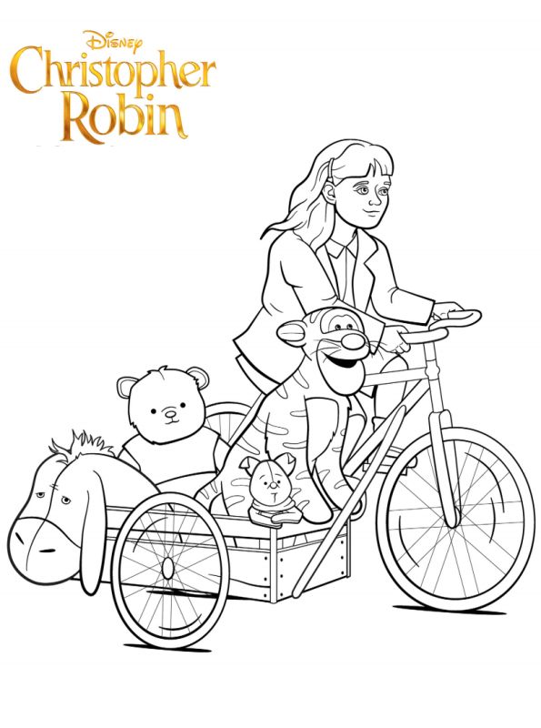 Madeline Christopher Robin Dibujos para colorear - Dibujalandia