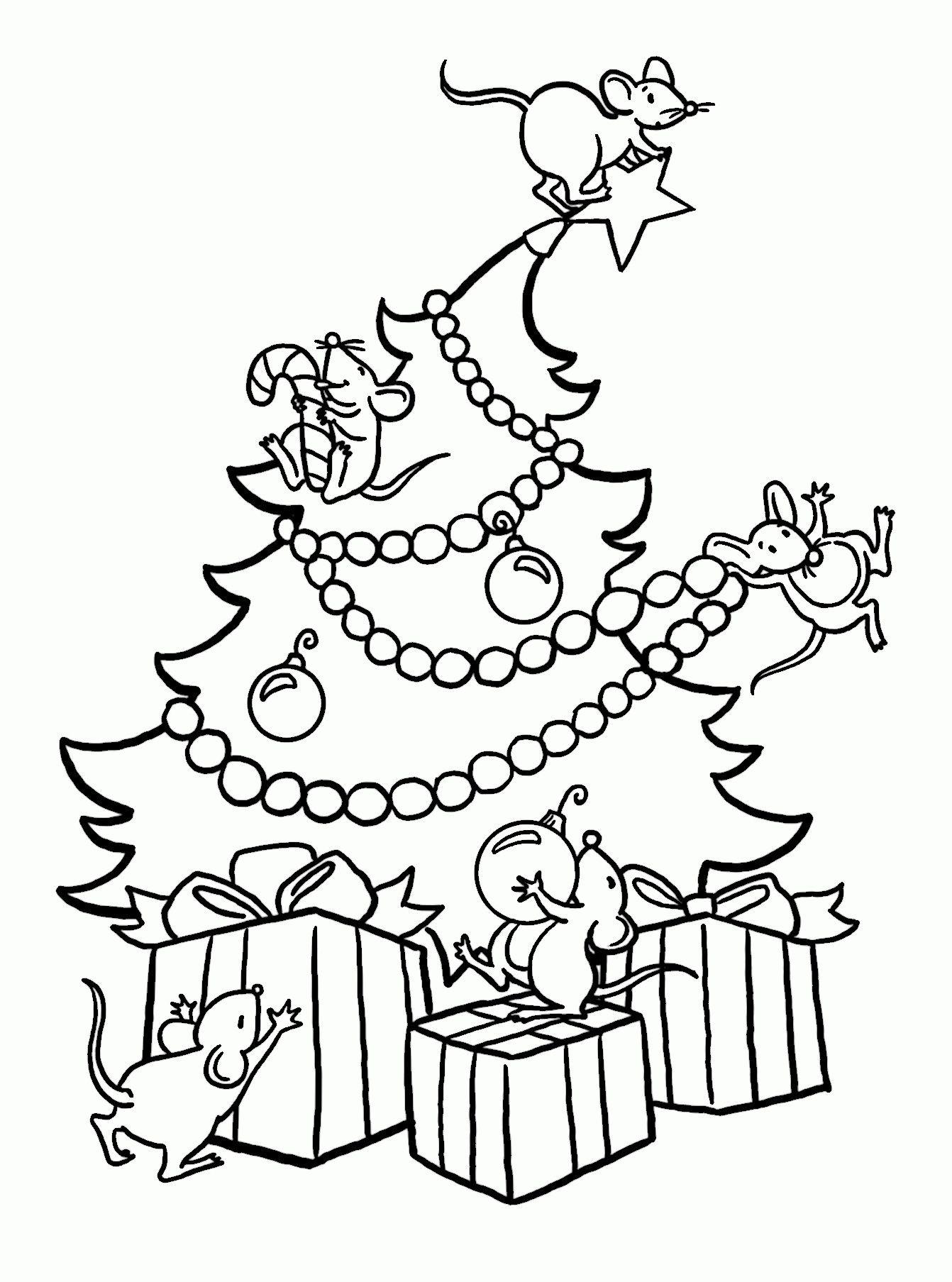 Unique Dibujo Arbol Navidad Para Colorear Navidad Tarjetas
