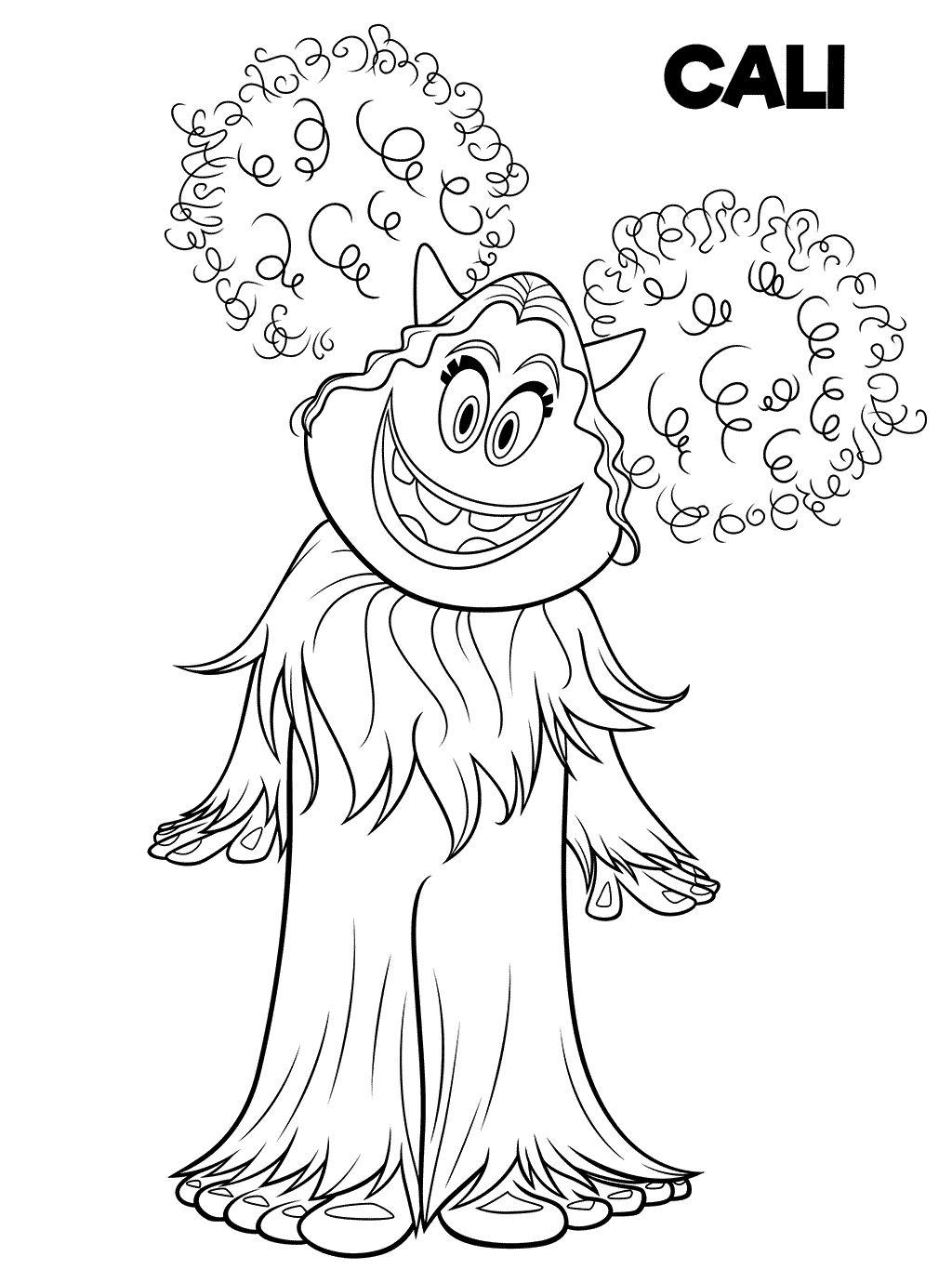 Cali Dibujos Para Colorear De La Pelicula De Smallfoot