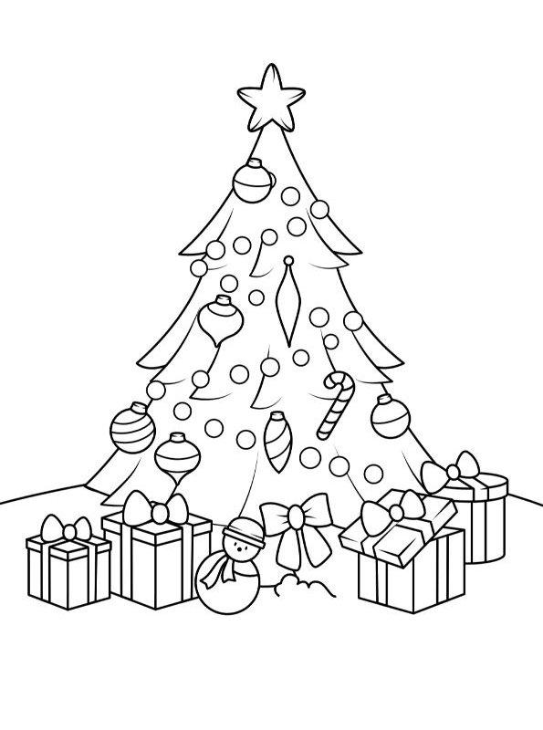Arbol De Navidad Para Colorear Dibujalandia