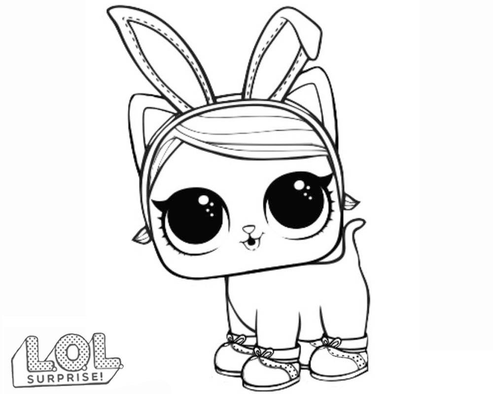 Bunny lol surprise dibujo para colorear e imprimir