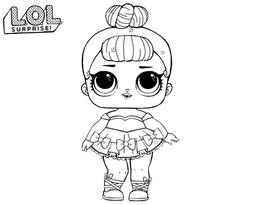 Miss Baby Lol Surprise Dibujo Para Colorear E Imprimir
