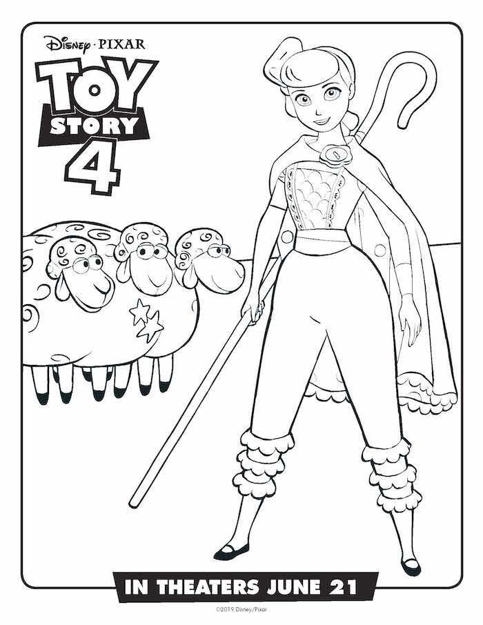 Toystory 4 Dibujos Para Colorear Bopeep Dibujalandia