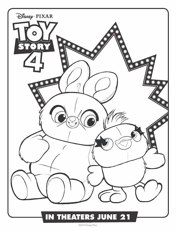 Toystory 4 Dibujos Para Colorear Duckyandbunny Dibujalandia