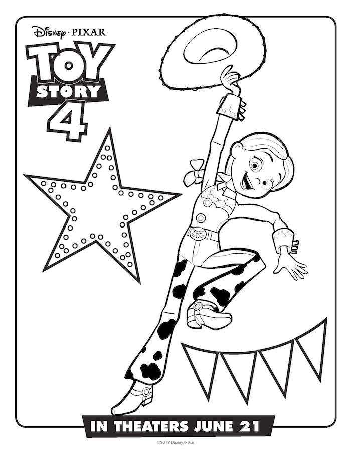 Toystory 4 Dibujos Para Colorear Jessie Dibujalandia