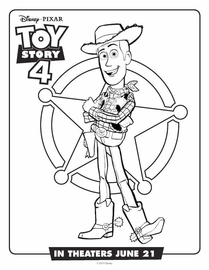 Toystory 4 Dibujos Para Colorear Woody Dibujalandia