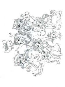 Dibujos para colorear de Enchantimals