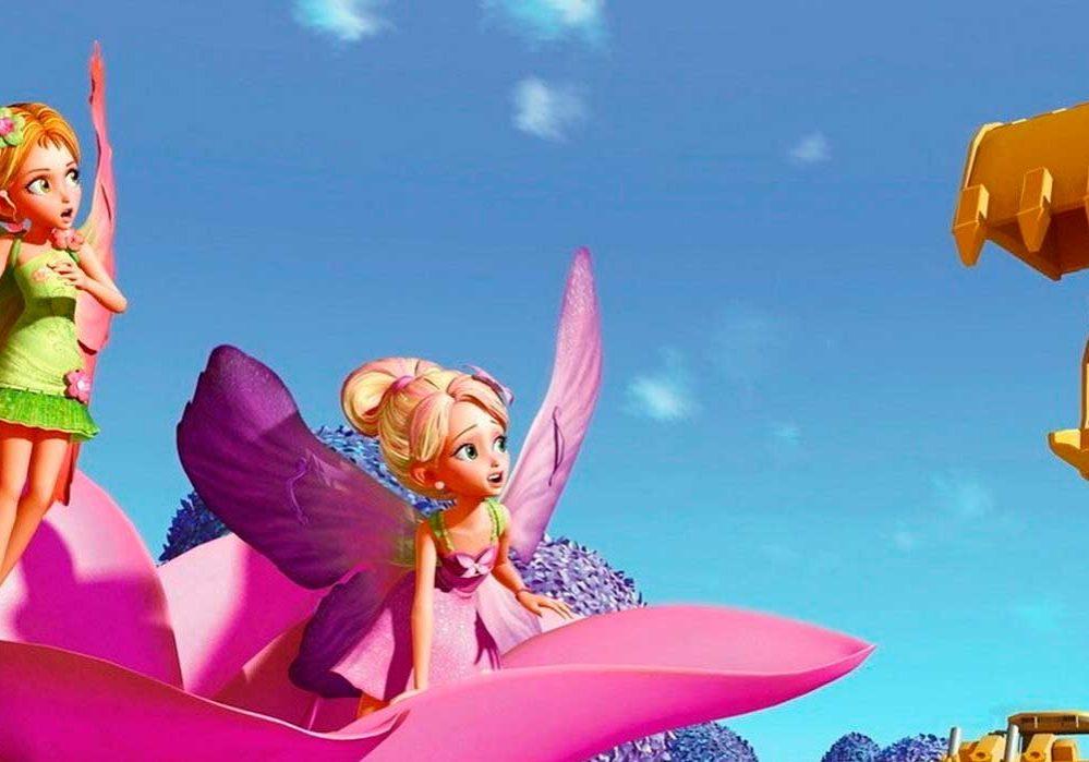 Barbie pulgarcita dibujos para colorear
